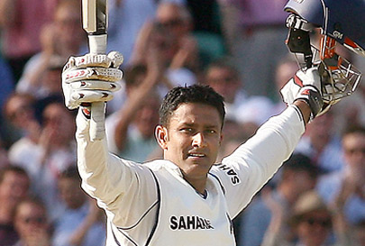 Anil Kumble after Scoring his Maiden Test Century