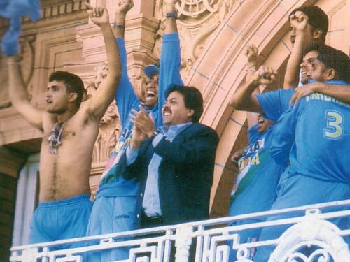 Sourav Ganguly at Lord's 2002